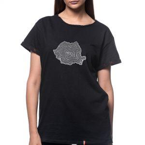 Tricou printat 'HARTA ÎN SPIRALĂ'