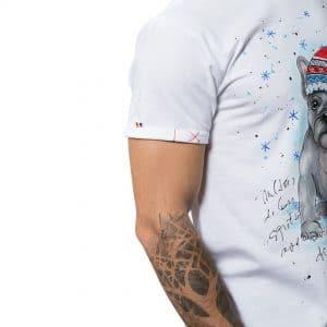 Tricou pictat 'CRĂCIUN CU NOVI'