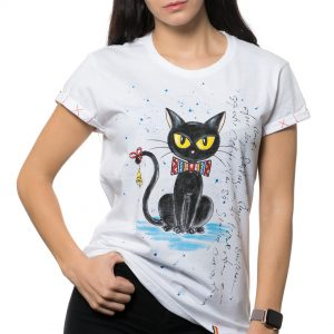 Tricou pictat 'CRĂCIUN CU BAGHERA'
