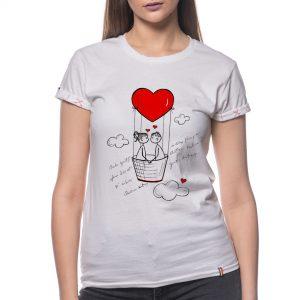 Tricou printat 'IUBIREA ITI DA ARIPI'
