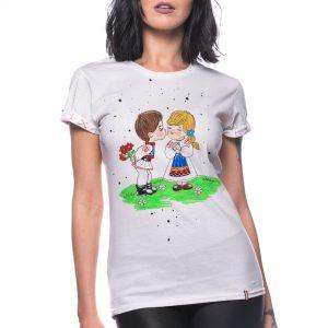 Tricou pictat 'PRIMĂVĂRATICI'