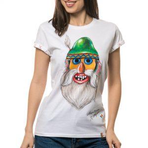 Tricou pictat 'MASCĂ TRADIȚIONALĂ MUNTENIA 1'
