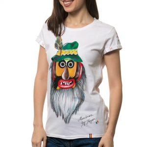 Tricou pictat 'MASCĂ TRADIȚIONALĂ MUNTENIA 2'