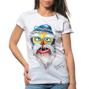 Tricou pictat 'MASCĂ TRADIȚIONALĂ TRANSILVANIA 1'