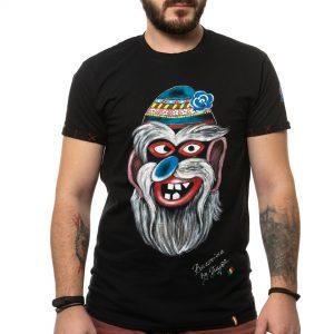 Tricou pictat 'MASCĂ TRADIȚIONALĂ BUCOVINA 2'