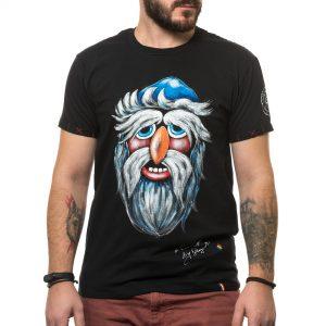 Tricou pictat 'MASCĂ TRADIȚIONALĂ MARAMUREȘ 2'