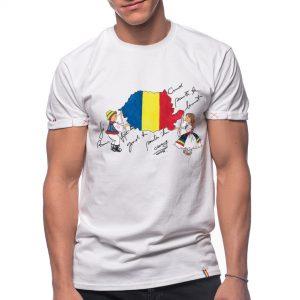 "Tricou pictat ""ROMANIA MEA"""