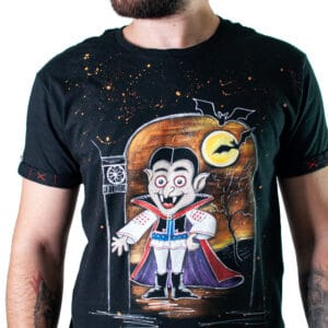 "Tricou pictat ""THE REAL DRACULA"""