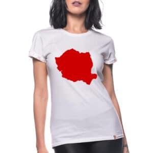 Tricou printat 'HARTA ROMANIA'