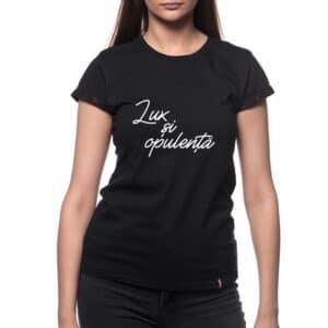Tricou printat 'LUX SI OPULENTA'