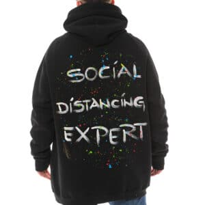 "Hanorac pictat ""SOCIAL DISTANCING EXPERT"""