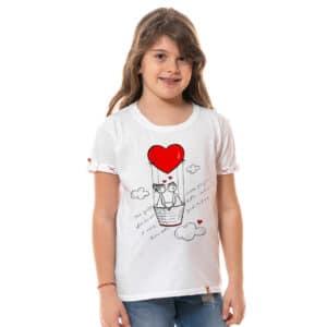 "Tricou printat ""IUBIREA ITI DA ARIPI"""
