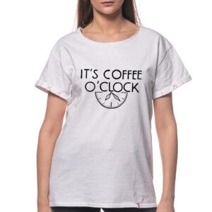 "Tricou ""COFFEE O'CLOCK"""